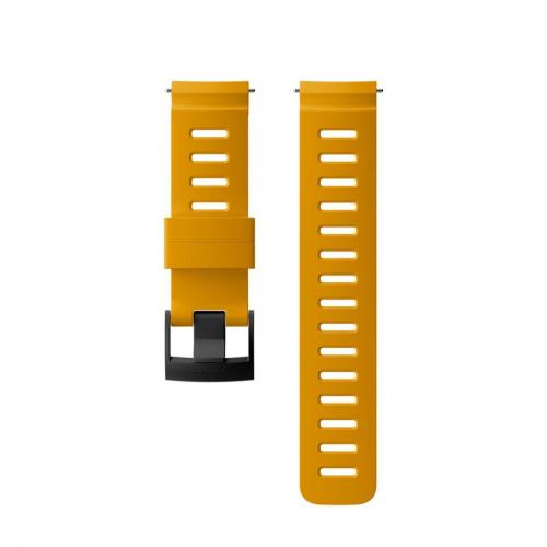 Suunto 24mm Dive 1 Καταδυτικό Λουράκι Σιλικόνης Amber Black Μέγεθος Μ