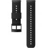 SUUNTO 24mm ATHLETIC 3 SILICONE STRAP BLACK STEEL SIZE M
