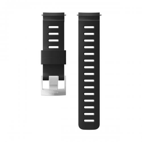 SUUNTO 24mm DIVE 1 SiILICONE STRAP BLACK STEEL SIZE M