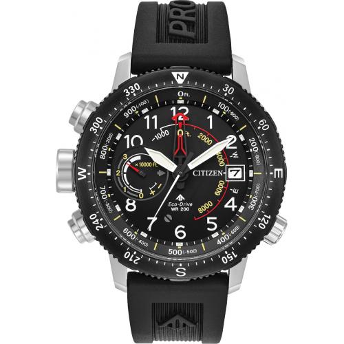 Citizen ρολόι Eco-Drive  με μαύρο λουράκι BN4044-15E