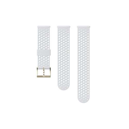 Suunto 20mm Athletic 1 Λουράκι Σιλικόνης Λευκό Gold Μέγεθος S + M
