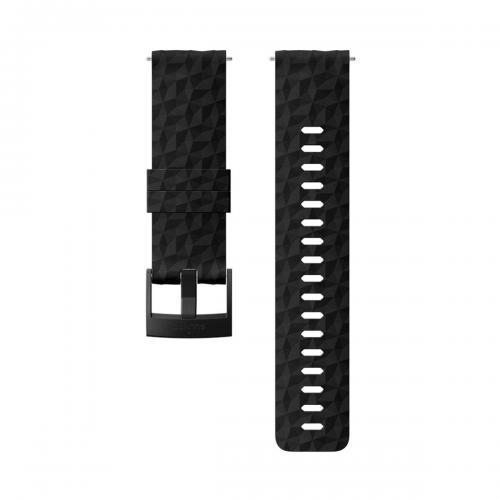 Suunto 24mm Explore 1 Λουράκι Σιλικόνης All Black Μέγεθος M