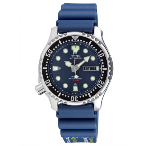 Citizen Ρολόι Promaster Diver΄s με μπλέ λουράκι από καουτσούκ NY0040-17L