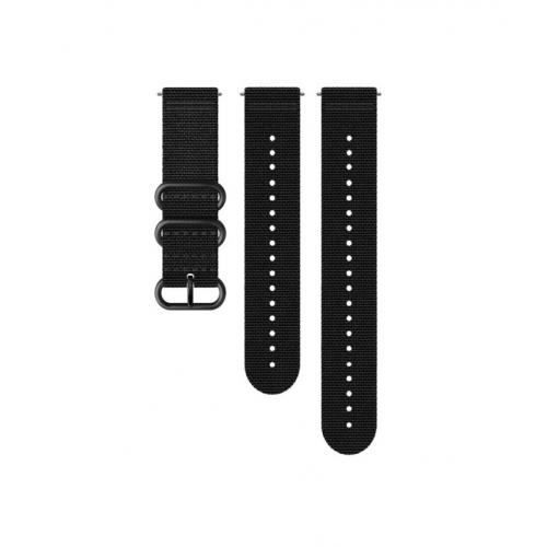 Suunto 24mm Explore 2 Κit Υφσμάτινου Λουριού Black/Black Μέγεθος M+L