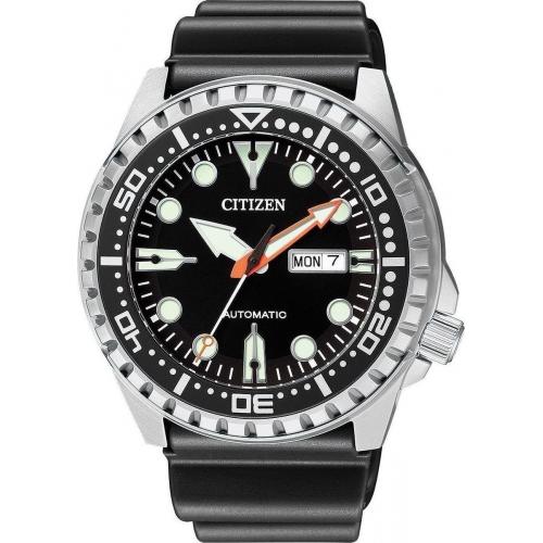 Citizen αυτόματο ρολόι με μαύρο Λουράκι NH8380-15E