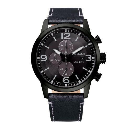 Ρολόι Citizen Platform Sporty Casual Chrono με μαύρο λουράκι CA0745-29E