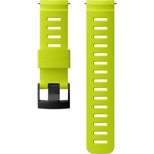 Suunto 24mm Dive 1 Καταδυτικό Λουράκι Σιλικόνης Lime Black Μέγεθος Μ