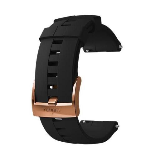 SUUNTO 24mm ATHLETIC 4 SILICONE STRAP BLACK COPPER SIZE M